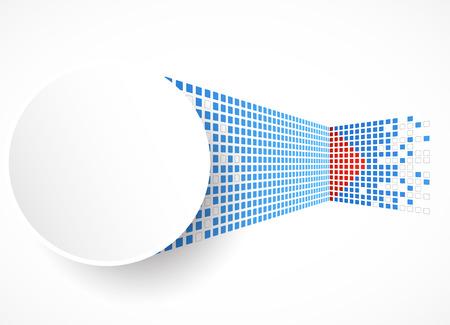 Pixel art. Vector square background Ilustração