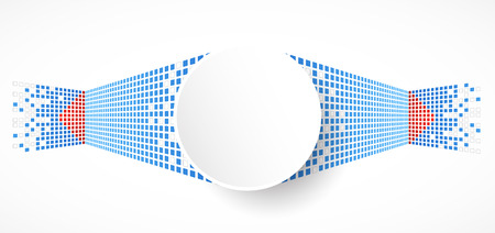 pix: Pixel art. Vector square background Illustration