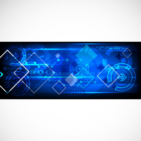 ligh: Abstract technology business template background. Vector