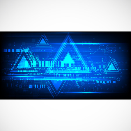 ligh: Abstract technological background. Vector Illustration