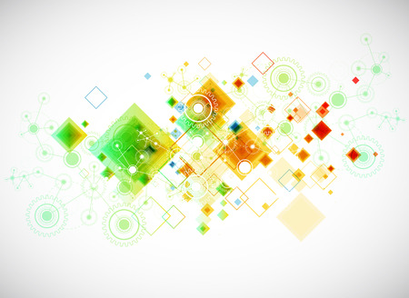 Abstract technology business template background. Vector Vector