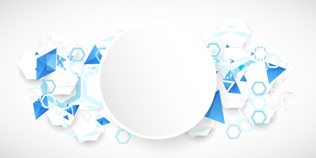 works: Abstract blue futuristic background for design works. Vector