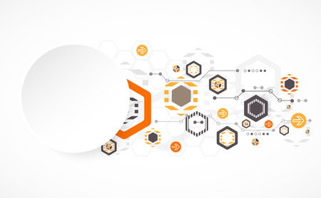 New technology hexagonal business background. Vector Illustration