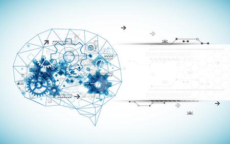 Abstracte digitale hersenen, technologie concept. Vector