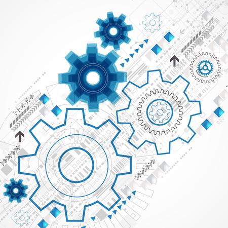ingenieria industrial: Fondo de la plantilla de negocio abstracto tecnolog�a. Vector