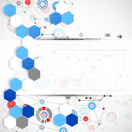 technology background: Abstract technology background. Vector Illustration
