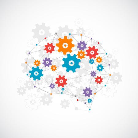 Abstract digital brain,technology concept. Vector  イラスト・ベクター素材
