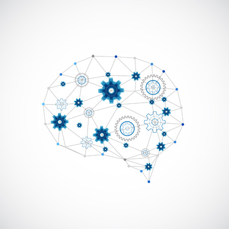 neural: Abstract digital brain,technology concept. Vector Illustration