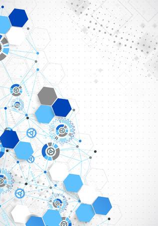 Résumé géométrie technologie couleur bleu. Vecteur Vecteurs