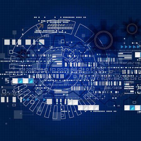 Futuro fondo abstracto de la tecnología de la ingeniería. Vector