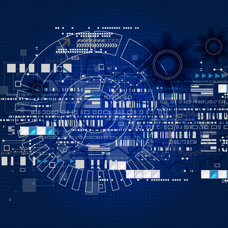 Abstract engineering future technology background. Vector