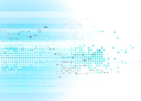 テクノロジー: 技術ビジネス テンプレート背景を抽象化します。ベクトル