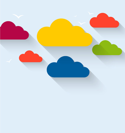 fluffy clouds: Cloud theme vector background. Vector Eps 10