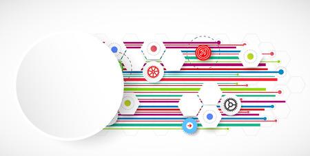 lineas rectas: Tecnología Líneas de color fondo abstracto. Vector