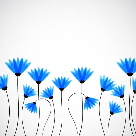 sfondo natura: Natura sfondo astratto. Fiordalisi blu. Vettore