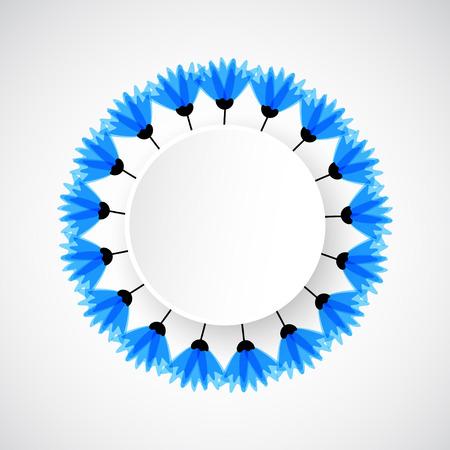 cornflowers: Abstract nature background. Blue cornflowers. Vector
