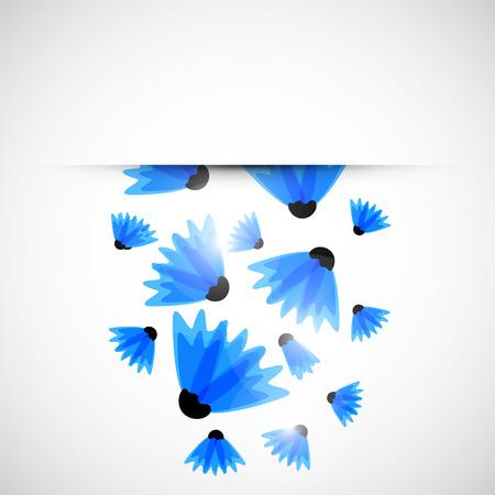 doğa arka: Özet doğa arka plan. Mavi peygamberçiçekleriyle. Vektör