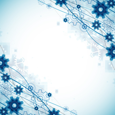 blue wave: Abstract blue wave technology business template background. Vector