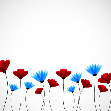 campo de flores: Fondo abstracto de la naturaleza. Flores campo vectorial Vectores