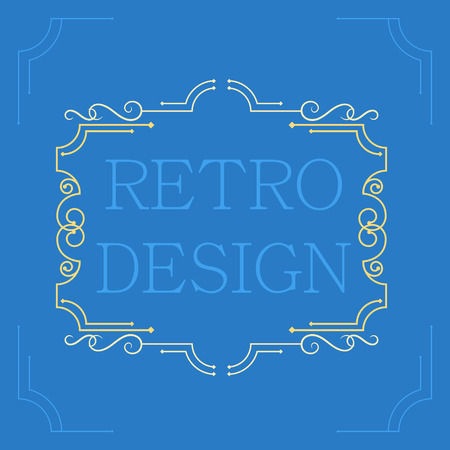 marcos decorativos: Vendimia marcos decorativos del vector. Dise�o retro