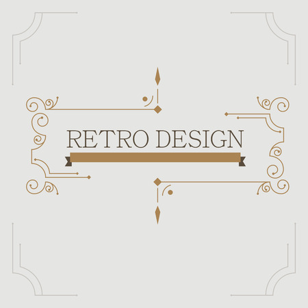 flourishes: Vector vintage decorative frames. Retro design