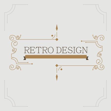 abstrakte muster: Vektor Jahrgang dekorativen Rahmen. Retro-Design Illustration