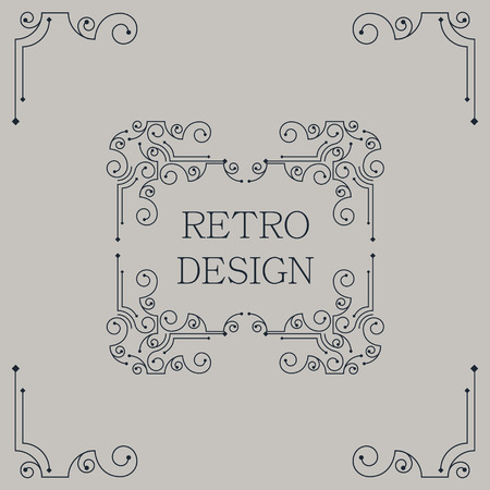 abstract pattern: Vector vintage decorative frames. Retro design