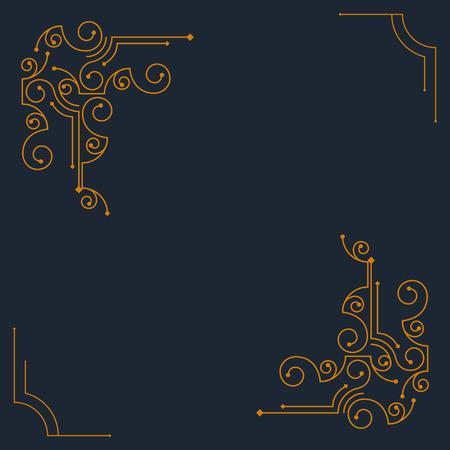 marcos decorativos: Vendimia marcos decorativos del vector. Diseño retro