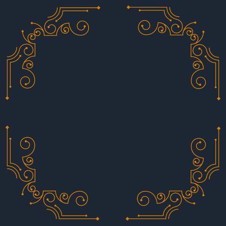 Vector vintage decorative frames. Retro design
