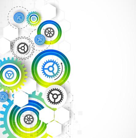 engranajes: Fondo de la plantilla de negocio abstracto tecnolog�a. Ilustraci�n vectorial Vectores