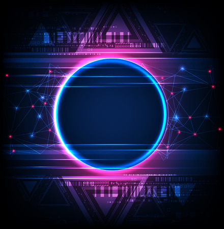 Abstract technology concept  background. Vector illustration  イラスト・ベクター素材