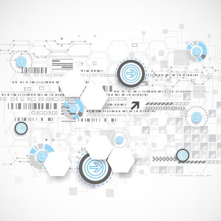 technology: Astratto con elementi tecnologici. Vettore