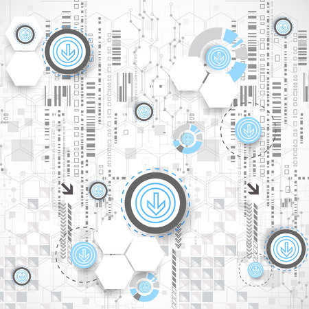 computer scientist: Abstract background with technological elements. Vector