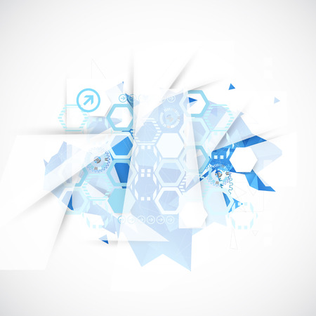 blue background abstract: Abstract background with technological blue elements. Vector