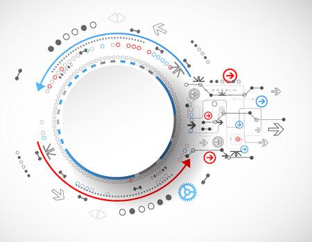technologie: Concept de la technologie Résumé du milieu des affaires. Vecteur