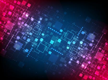 konzepte: Abstrakte Technologie Konzept betriebswirtschaftlichen Hintergrund. Vektor