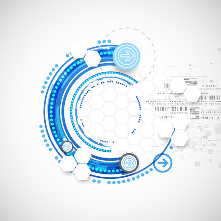 blue abstract: Abstract blue business science or technology background. Vector Illustration