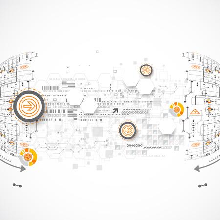 abstrakcja: Streszczenie kolor tła nauki lub technologii. Wektor