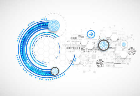Abstract blue business science or technology background. Vector Illustration