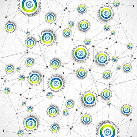 acquaintance: Fondo tecnol�gico abstracto con diversos elementos. Vector Vectores