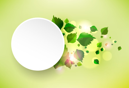clean background: Abstract background with fresh green leaves. Vector