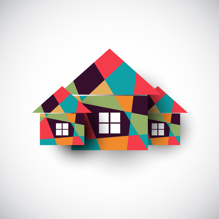 House abstract real estate vector background. Realty theme icon. Illustration