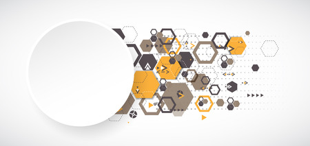 abstract shape: Abstract background with hexagonal shapes. Vector