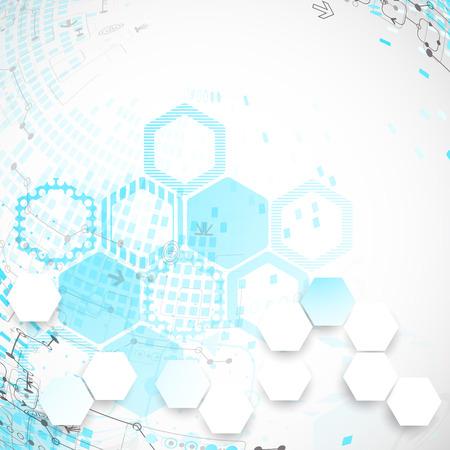 tecnologias de la informacion: Fondo abstracto con elementos tecnológicos. Vector
