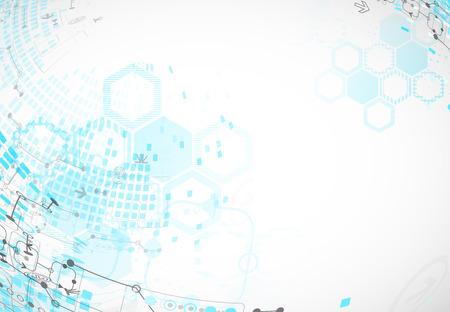 tecnologia informacion: Fondo abstracto con elementos tecnol�gicos. Vector