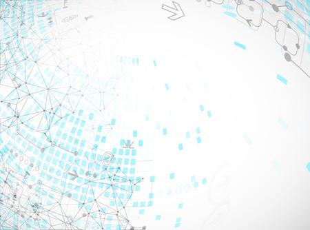 Abstract communication technology light design background. Vector Vettoriali