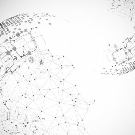 Abstracte communicatietechnologie lichtontwerp achtergrond. Vector Stock Illustratie