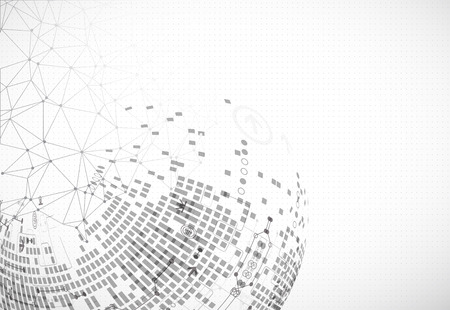 Abstract communication technology light design background. Vector Illustration