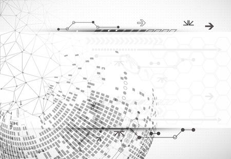 Abstract communication technology light design background. Vector Vetores
