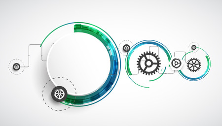 Abstrakcyjna technologii biznes technologii komputerowej kolor tła. Wektor Ilustracje wektorowe